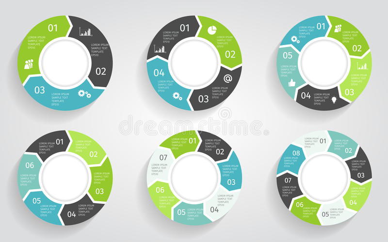 Circle arrows infographic. Vector template in flat design style. royalty free illustration
