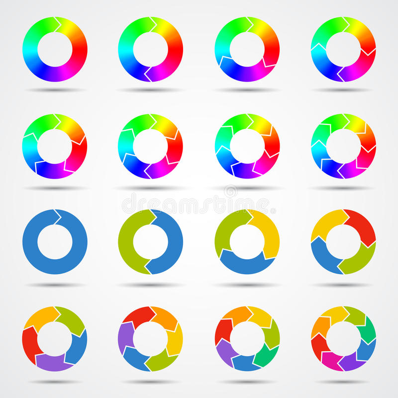 Circle arrows template for your business project stock illustration