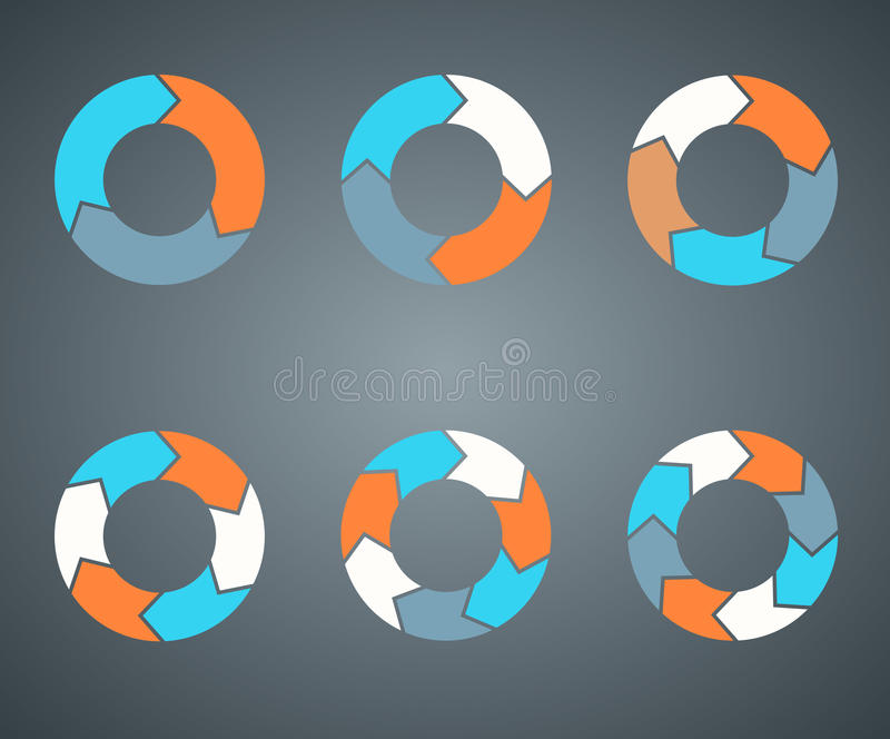 Circle arrows template for your business project royalty free illustration