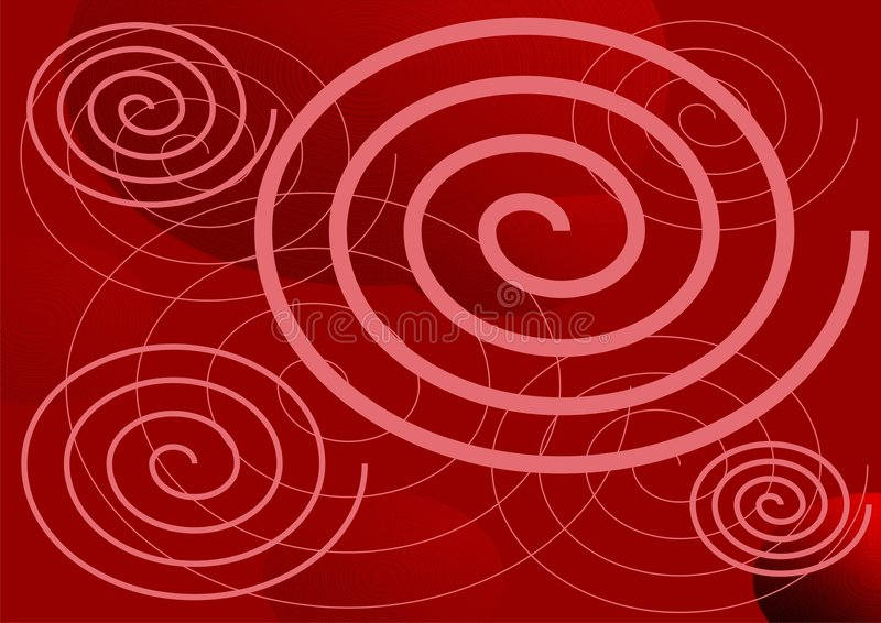 A circle bakcground. In red with circle shape objects vector illustration
