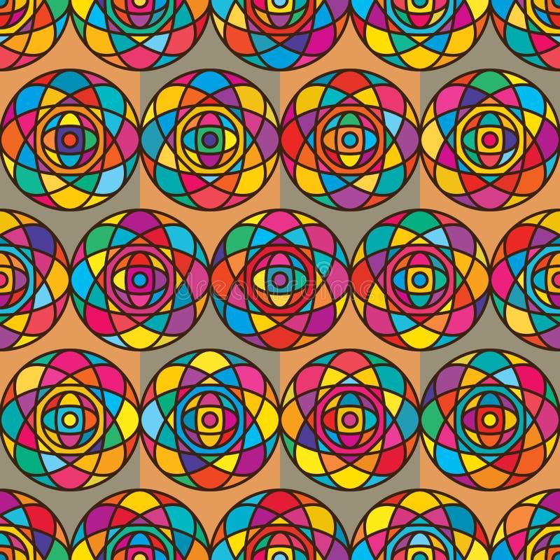 Circle ball circle seamless pattern royalty free illustration