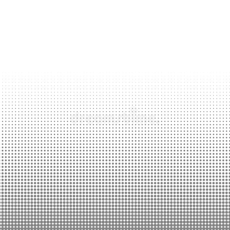 Circle black and white halftone dots texture background for abstract pattern and graphic design stock illustration