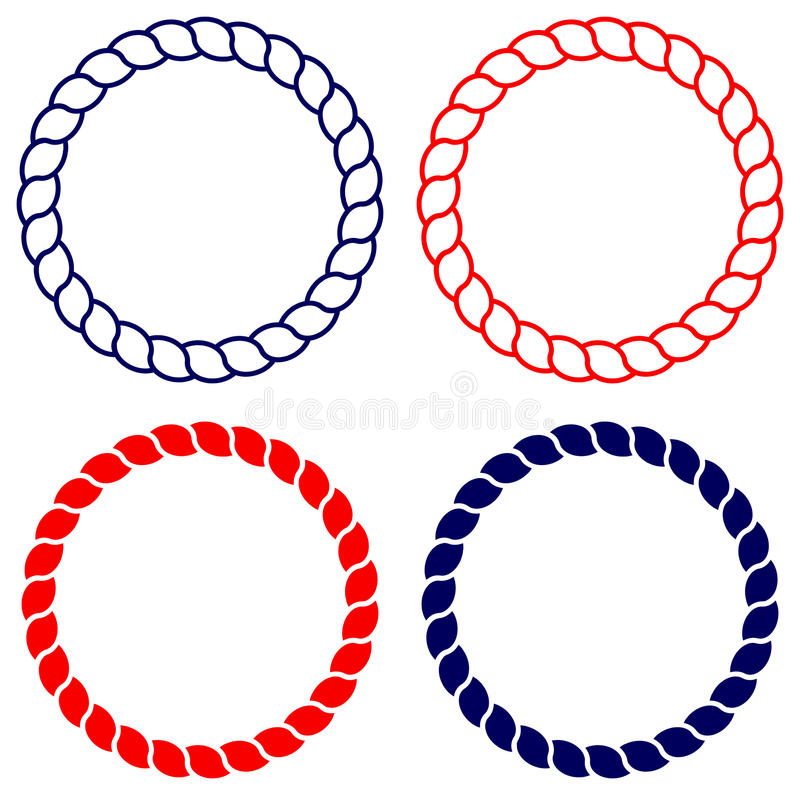 circle blue and red rope vector line art isolated stock vector rh dreamstime com rope vector free rope vector clip art