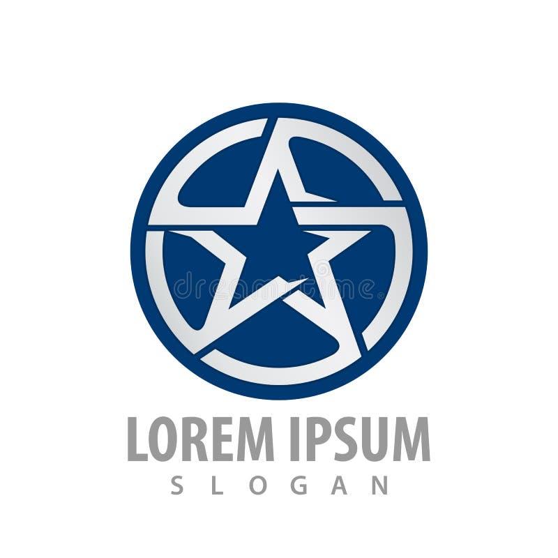 Circle blue star logo concept design. Symbol graphic template element vector. Circle blue star logo concept design. Symbol graphic template element royalty free illustration