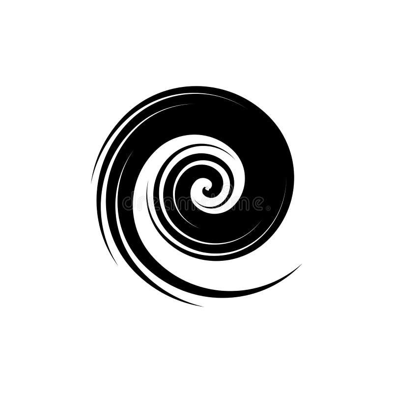 Circle Blue Tornado logo symbol isolated, Abstract Hurricane Logo Symbol, Typhoon vector royalty free illustration