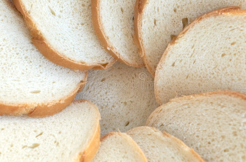 Circle from bread slices royalty free stock photography