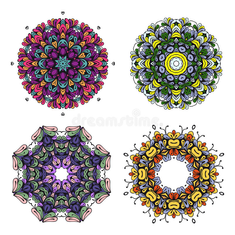 Circle bright colorful ornament royalty free illustration