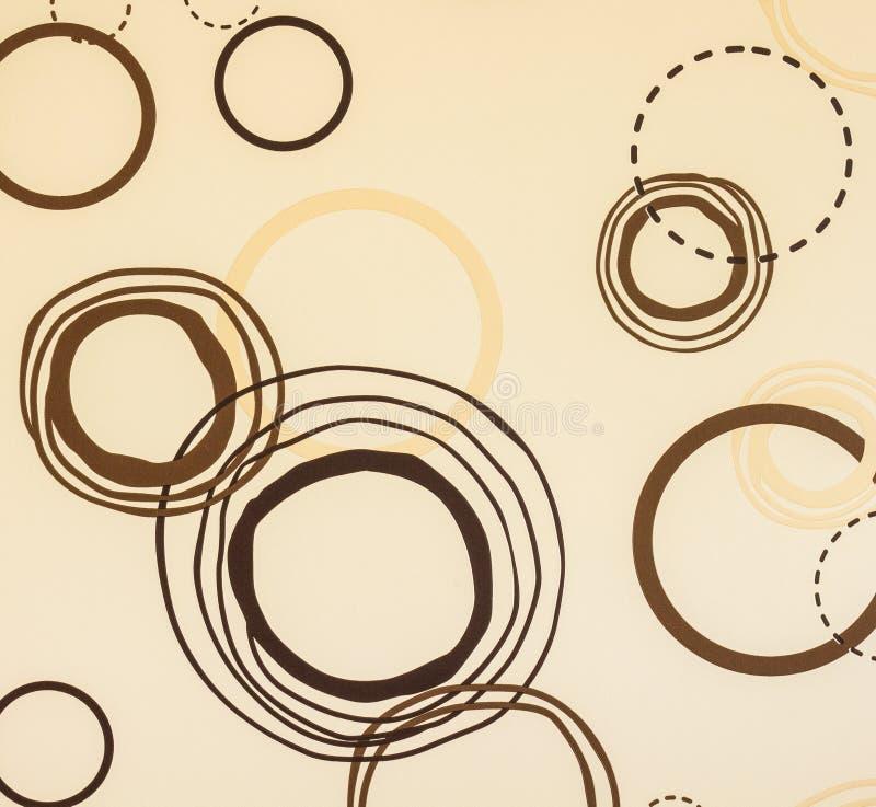 Circle brown wallpaper. Coffee shop style stock photo