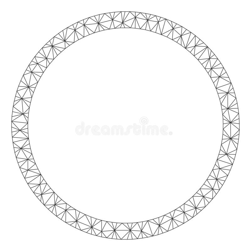 Circle Bubble Polygonal Frame Vector Mesh Illustration royalty free illustration