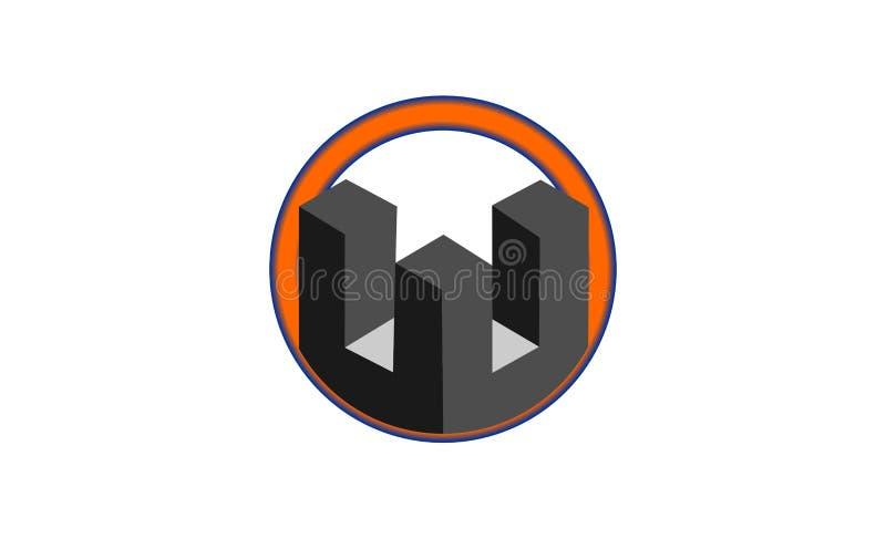 Circle building logo design royalty free illustration