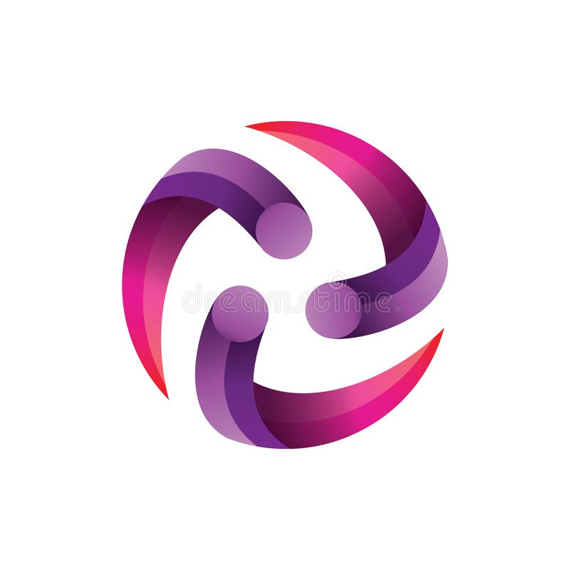 Circle Center Gradient Logo Vector royalty free illustration
