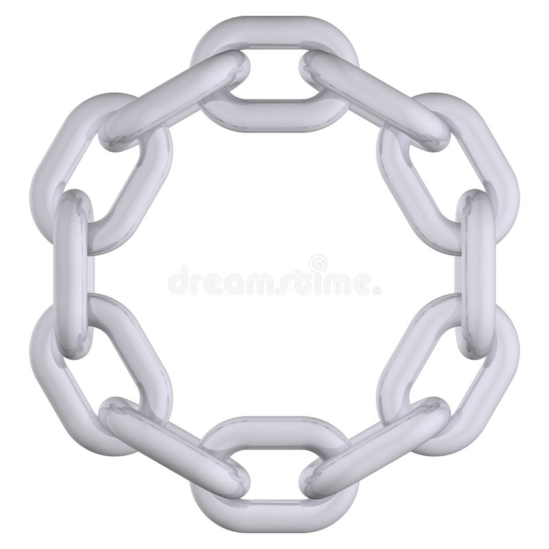 Circle Chain Royalty Free Stock Photography