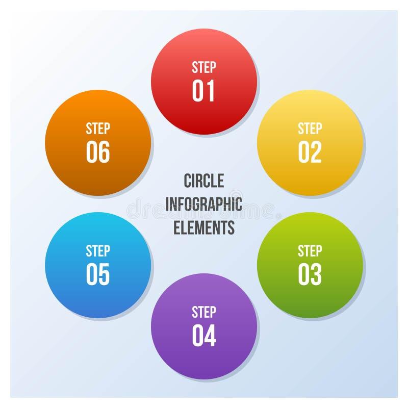 Circle chart, Circle infographic or Circular diagram. 7 steps Circle chart, Circle infographic or Circular diagram royalty free illustration