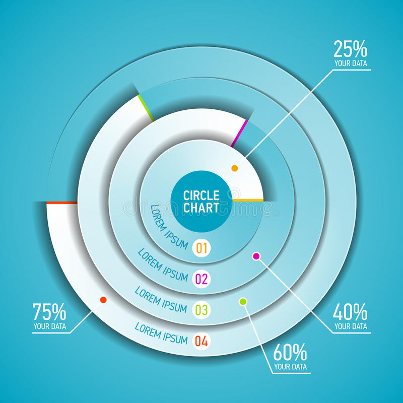 Circle Chart Infographic Template Stock Vector