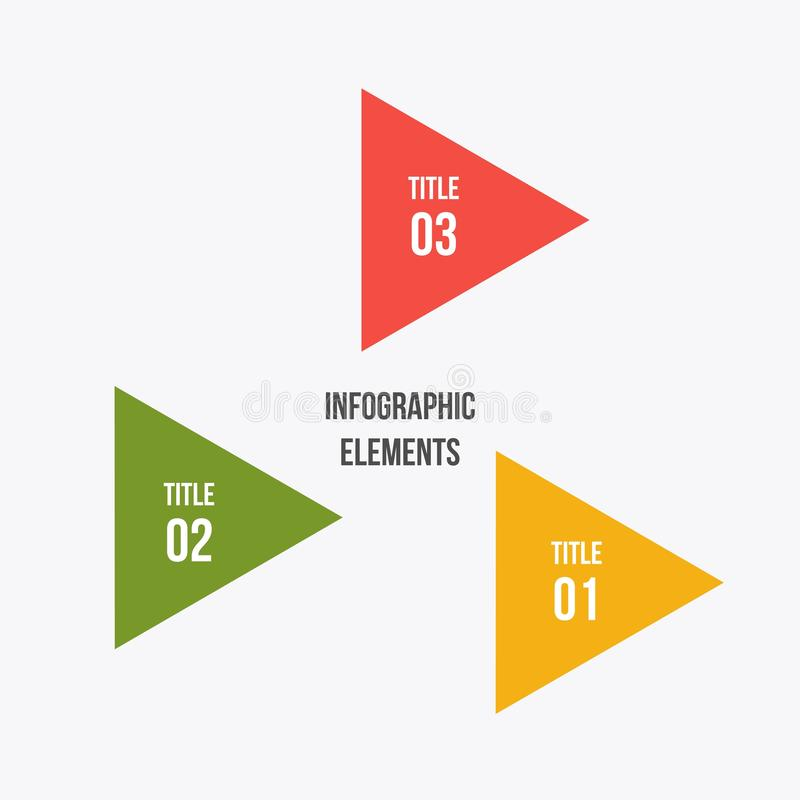 Circle chart, Circle infographic with triangle shape. 3 steps Circle chart, Circle infographic with triangle shape royalty free illustration