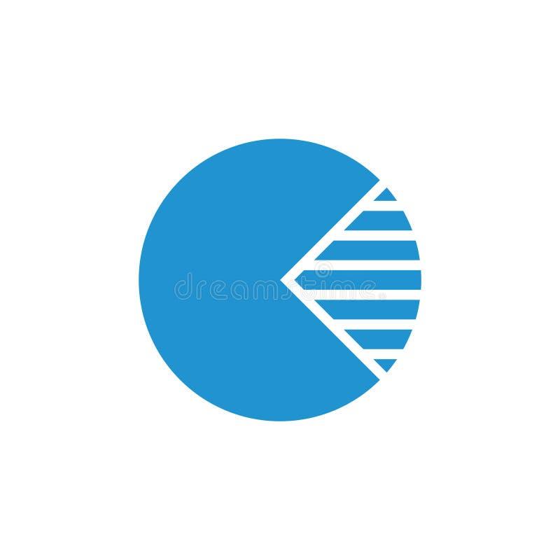 Circle chart pie symbol decoration vector. Unique unusual luqury simple design concept stock illustration
