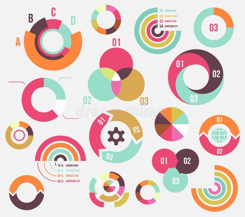 Circle charts stock illustration