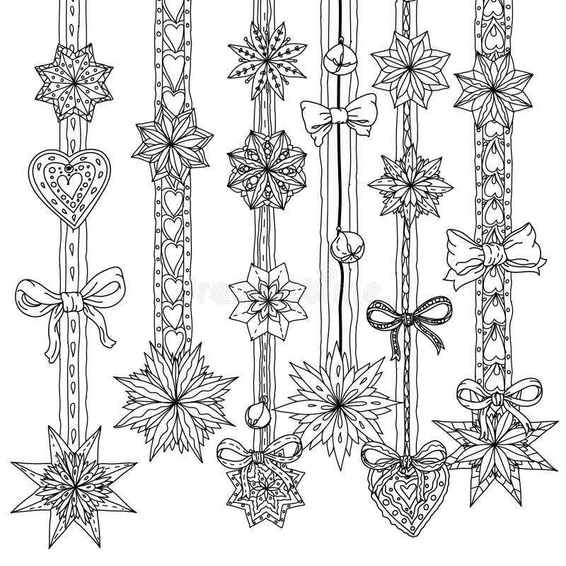 Circle Christmas balls ornament vector illustration