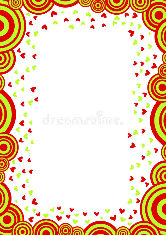 Circle clouds and hearts valentines day card stock photo