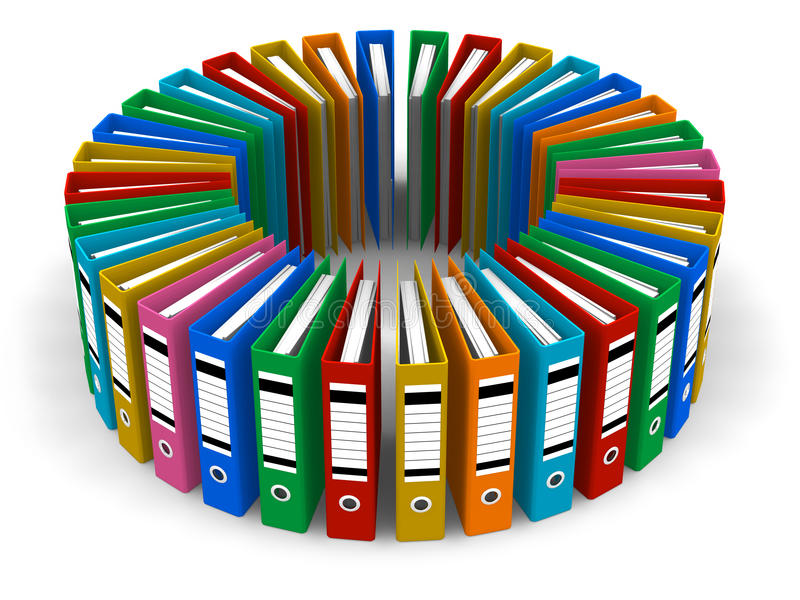 Circle From Color Folders Royalty Free Stock Image