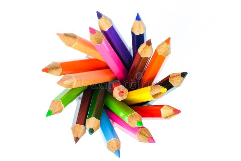Circle of color pencil stock photo