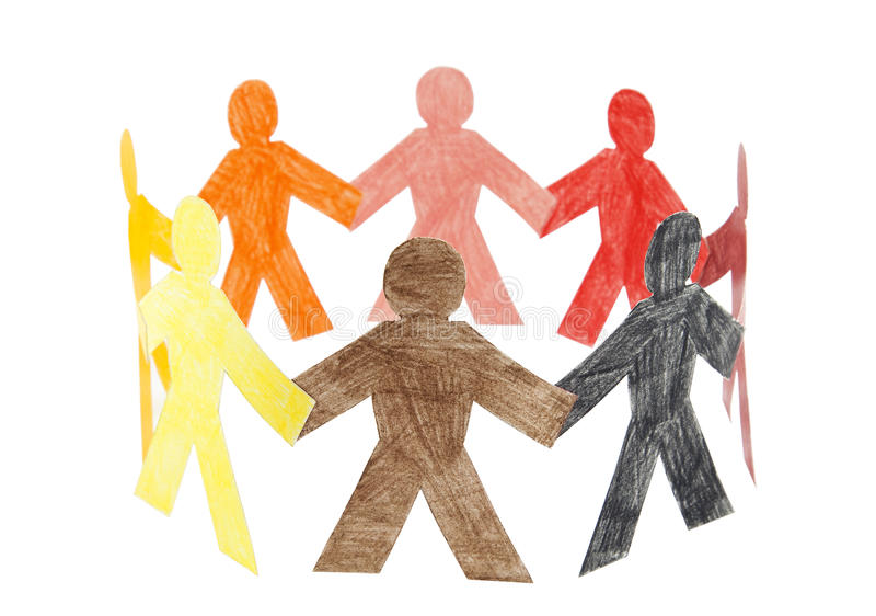 Circle of colourful people royalty free stock images