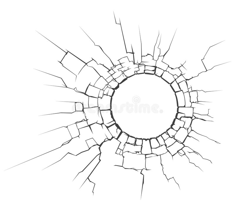 Circle crack stock illustration