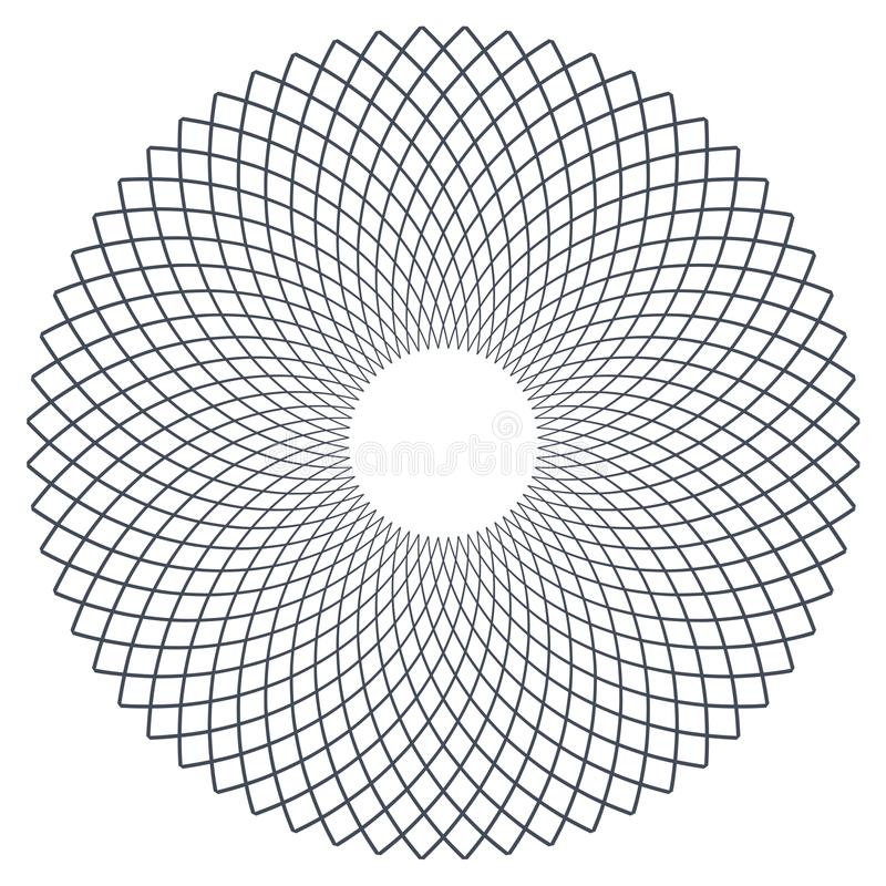 Circle design element. Rotation circular lines pattern. Vector art stock illustration