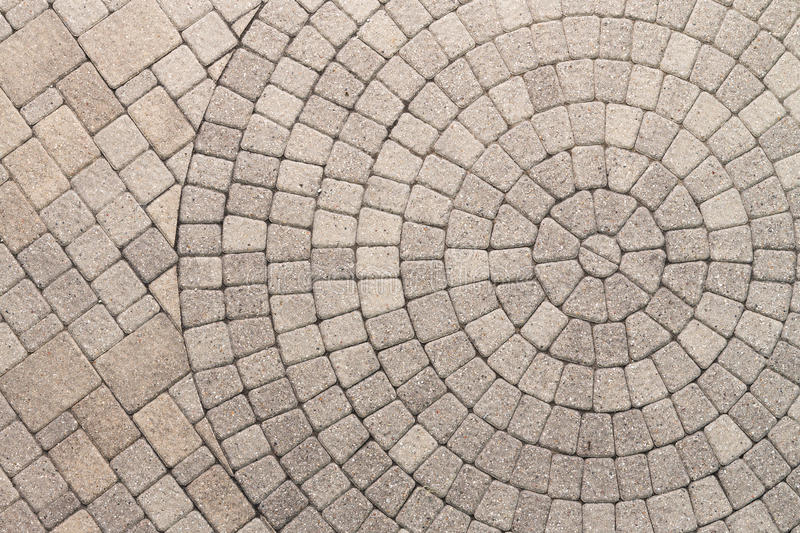 Circle Design Pattern In Patio Paving Stock Photo Image