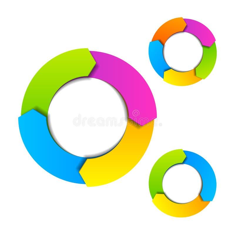 Circle diagram vector illustration