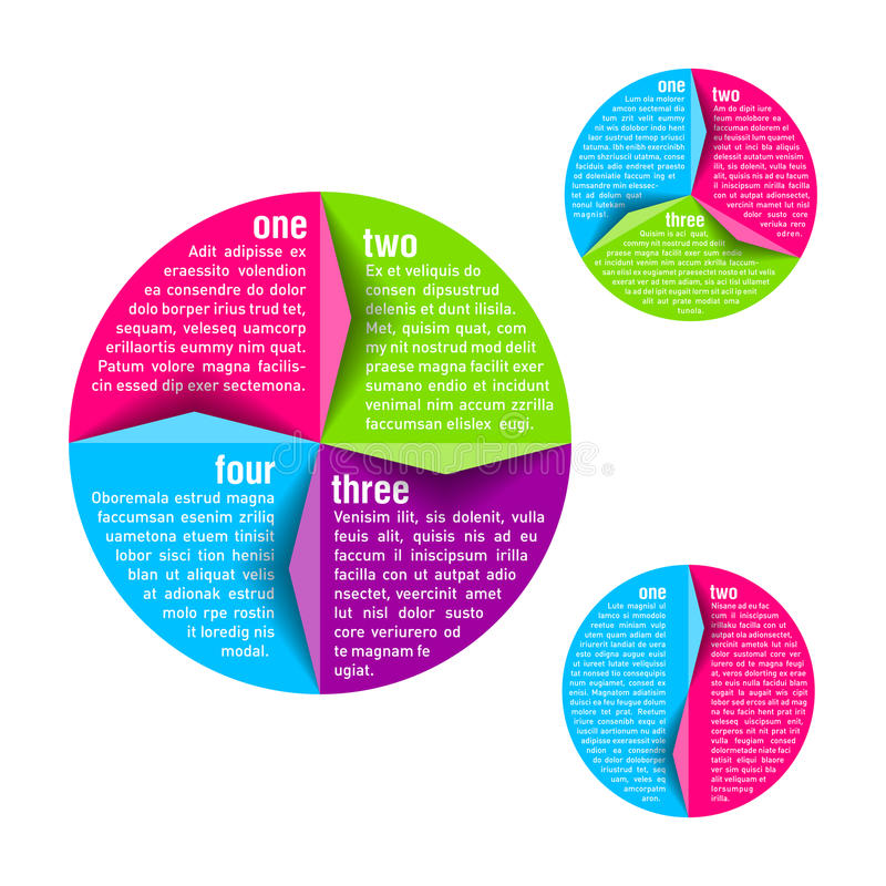 Circle diagram. Design template illustration royalty free illustration