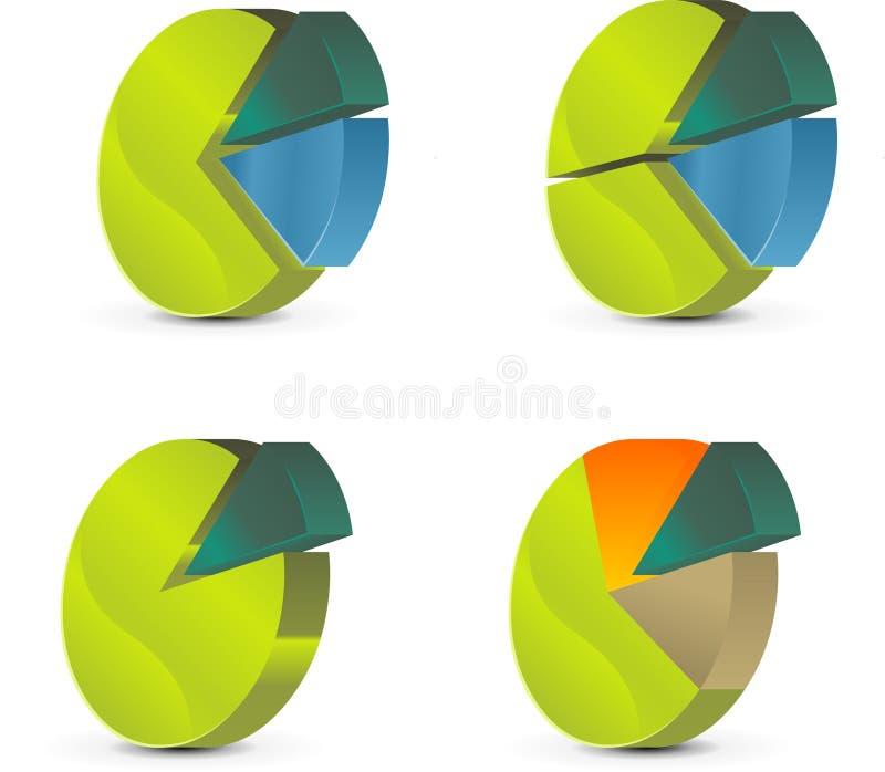 Circle diagram. Business circle diagram. vector image stock illustration
