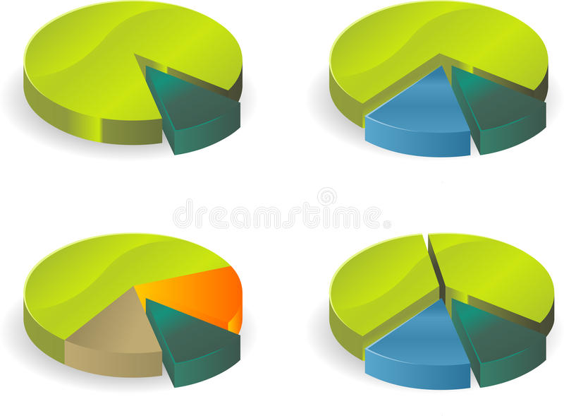 Circle diagram. Business circle diagram. vector image royalty free illustration