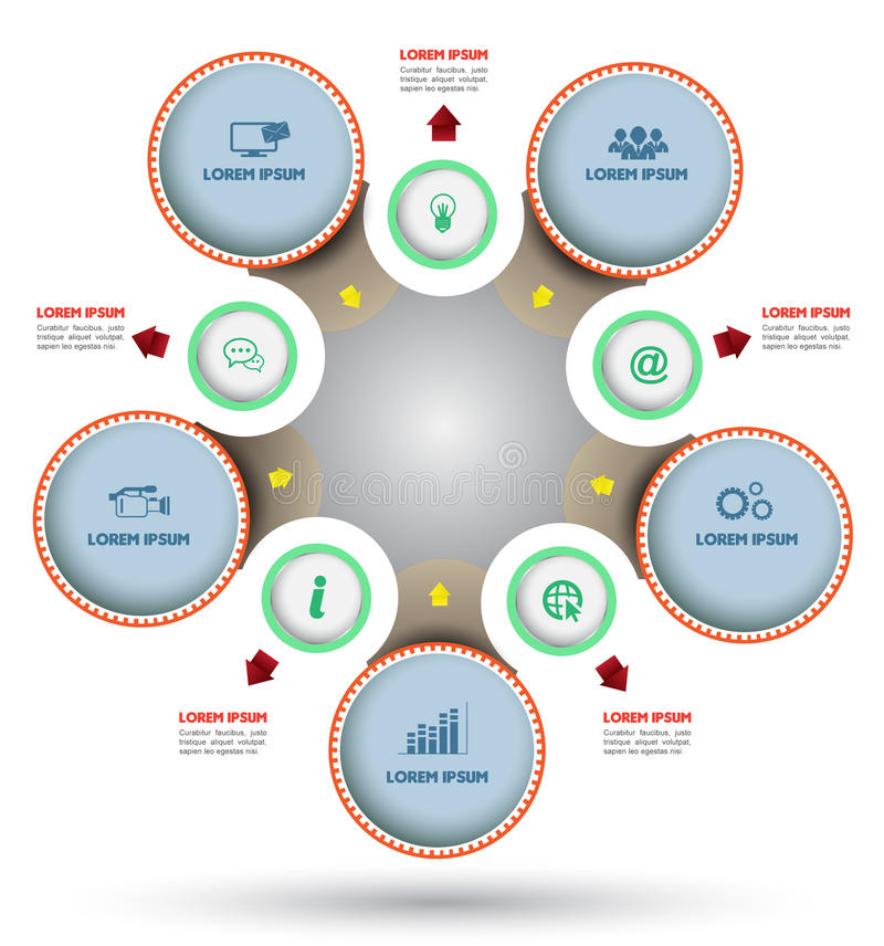 Circle Diagram With Icon Stock Vector  Image Of Connection