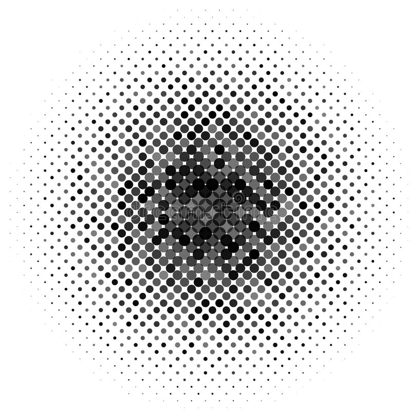 Circle with dots for Design Project. Halftone effect vector illustration. Colorful dots on white stock illustration