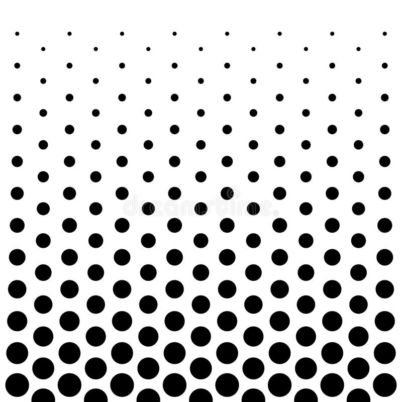 Circle Dots pattern design background in Black and white royalty free illustration