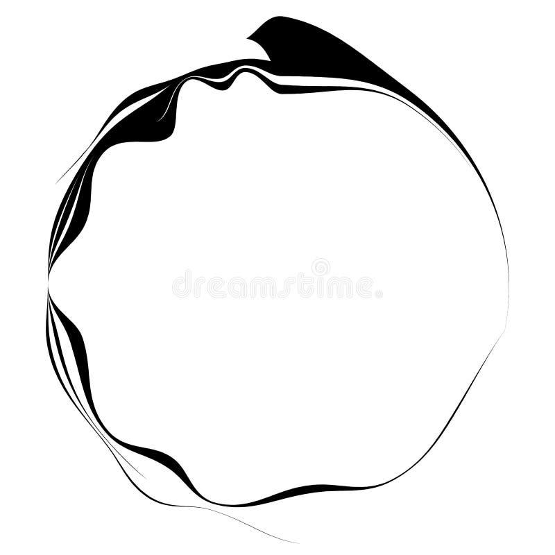 Logo Mockup Circular White Sign: Dynamic Line Border Stock Vector. Illustration Of
