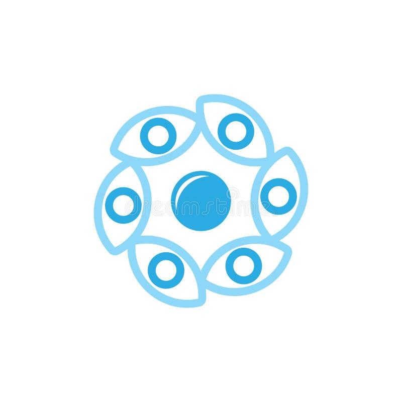 Circle eye visual symbol logo vector. Unique unusual simple luxury elegant design concept stock illustration