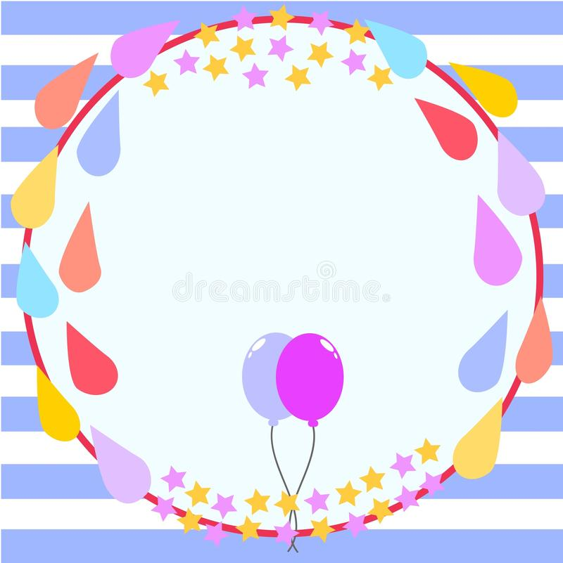 download circle frame birthday card template stock illustration illustration of star template 55588127