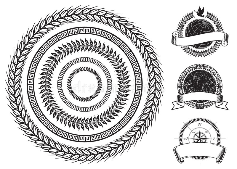 Download Circle Frame Elements stock vector. Image of arms, black - 8700159