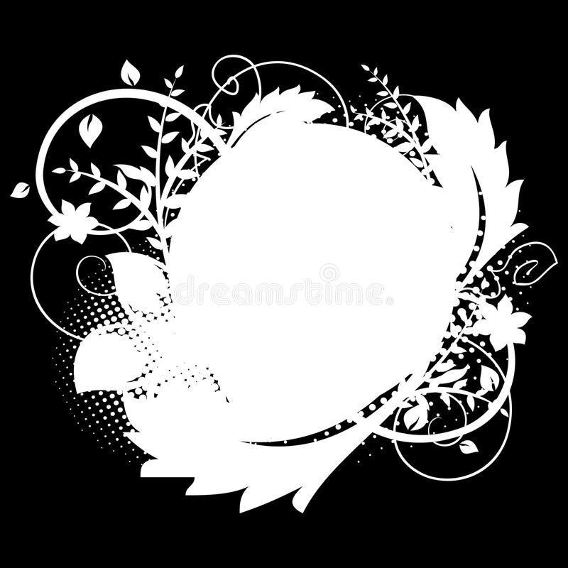 Download Circle Frame With Floral Decorations 1 Stock Photography - Image: 17452272