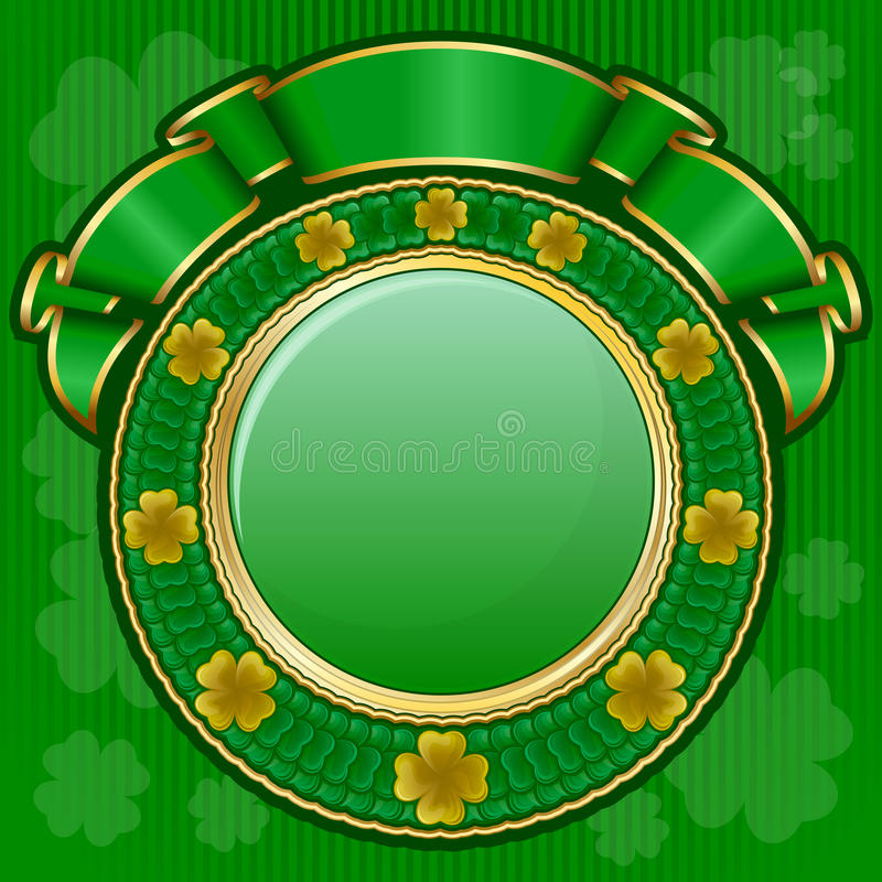 Circle Frame With Ribbon Stock Photo