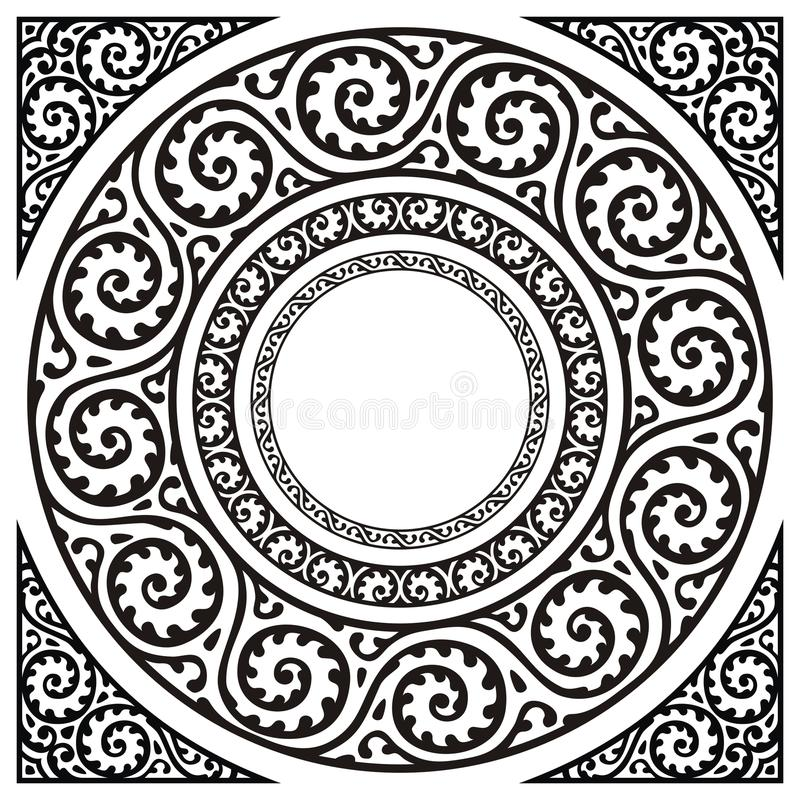 Circle frames royalty free stock photography