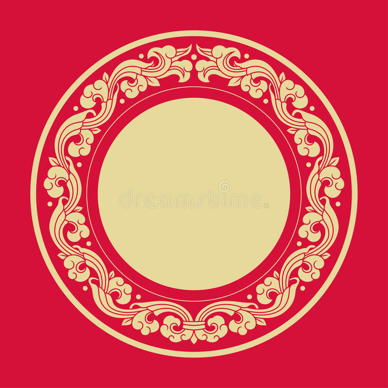 Circle Frames Of Chinese Style Stock Vector - Illustration of china ...