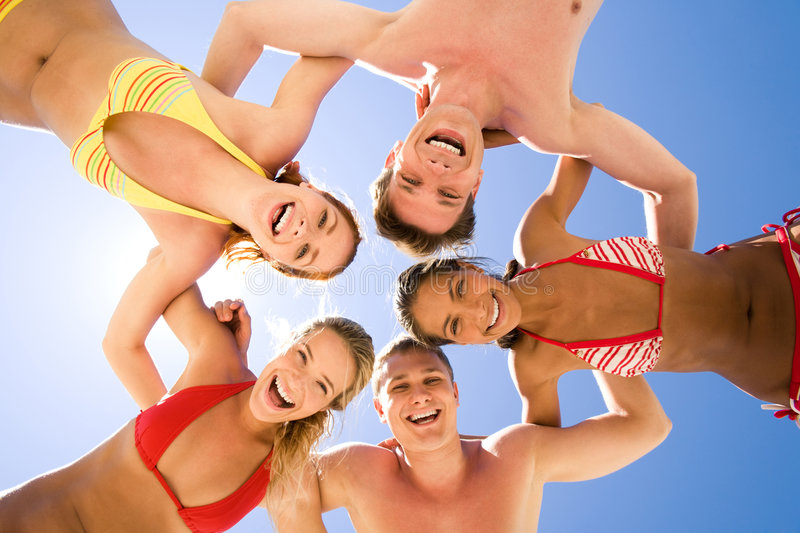 Download Circle of friends stock photo. Image of energetic, blue - 6133642