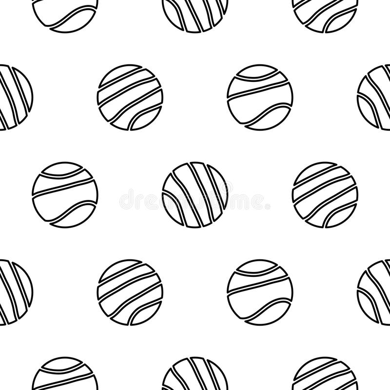Circle geo line shapes hipster seamless vector pattern. stock illustration