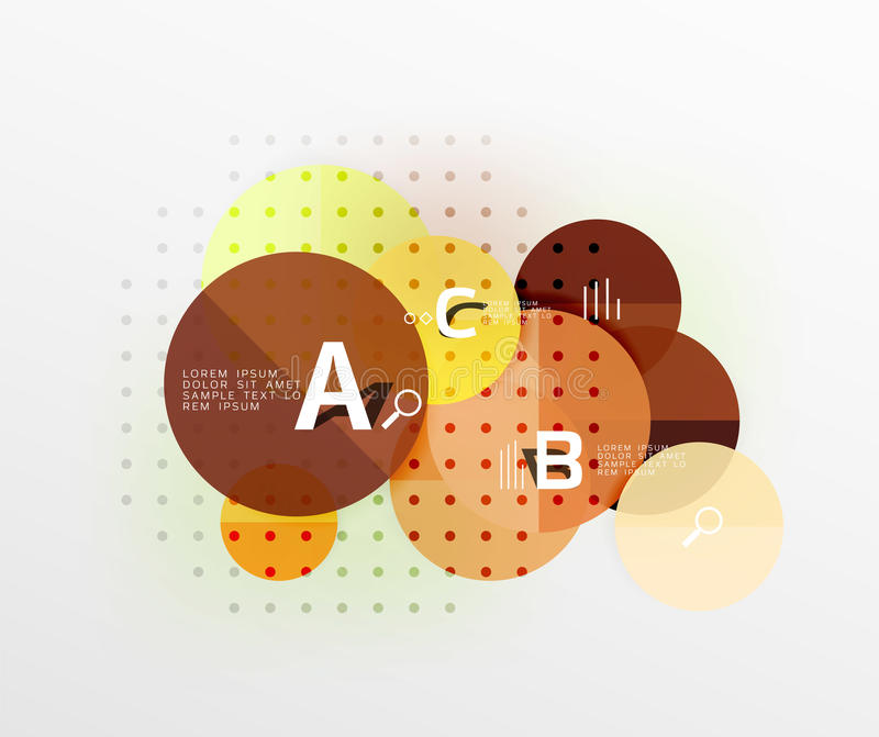 Circle geometric abstract background. Vector template background for workflow layout, diagram, number options or web design vector illustration
