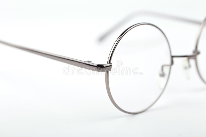 Circle glasses royalty free stock photo
