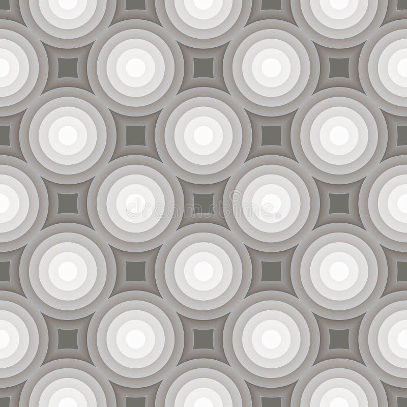 Circle gradient grey pattern background. Vector. Illustration stock illustration