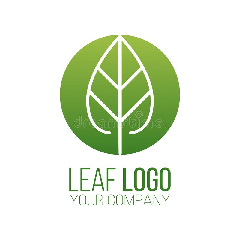 Circle green leaf logo icon vector design. Landscape design, garden, Plant, nature and ecology vector logo. Ecology Logotype. Concept icon. Vector illustration stock illustration